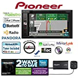 Cheap Pioneer AVIC-5200NEX In Dash Double Din 6.2″ DVD CD Navigation Receiver and a SiriusXM Satellite Radio Tuner, Antenna SXV300V1 with a FREE SOTS Air Freshener