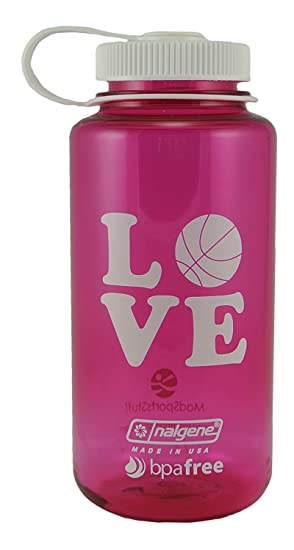 Nalgene 32 oz BPA libre amor baloncesto botella de agua Love ...