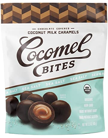 Cocomels Chocolate Covered Caramel BITES - Organic, Made Without Dairy, Vegan, Kosher,