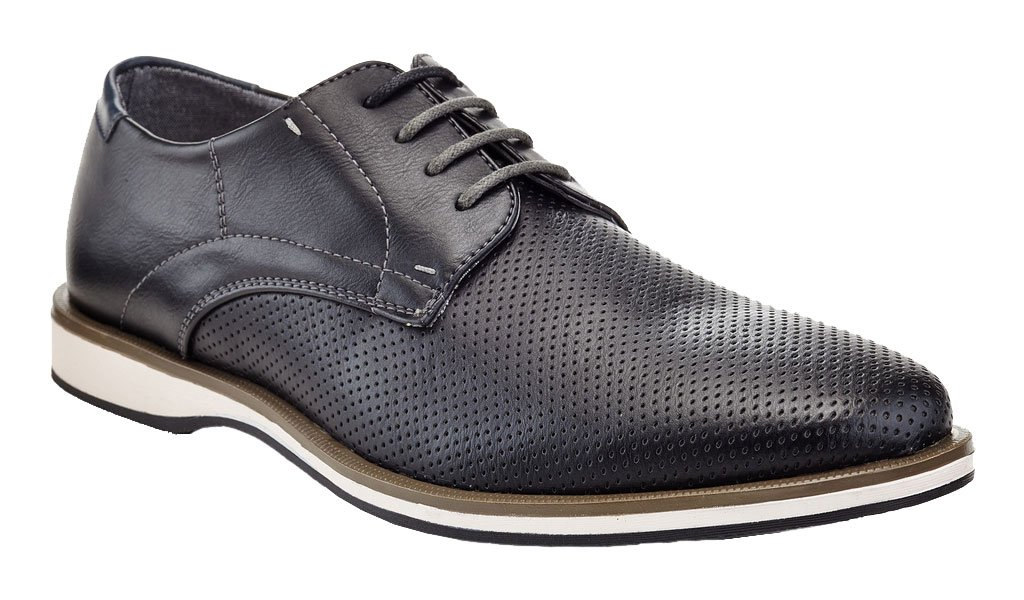 Franco Vanucci Men's Formal Classic Brogue Derby Lace up Perforated Casual Dress Oxfords Shoes