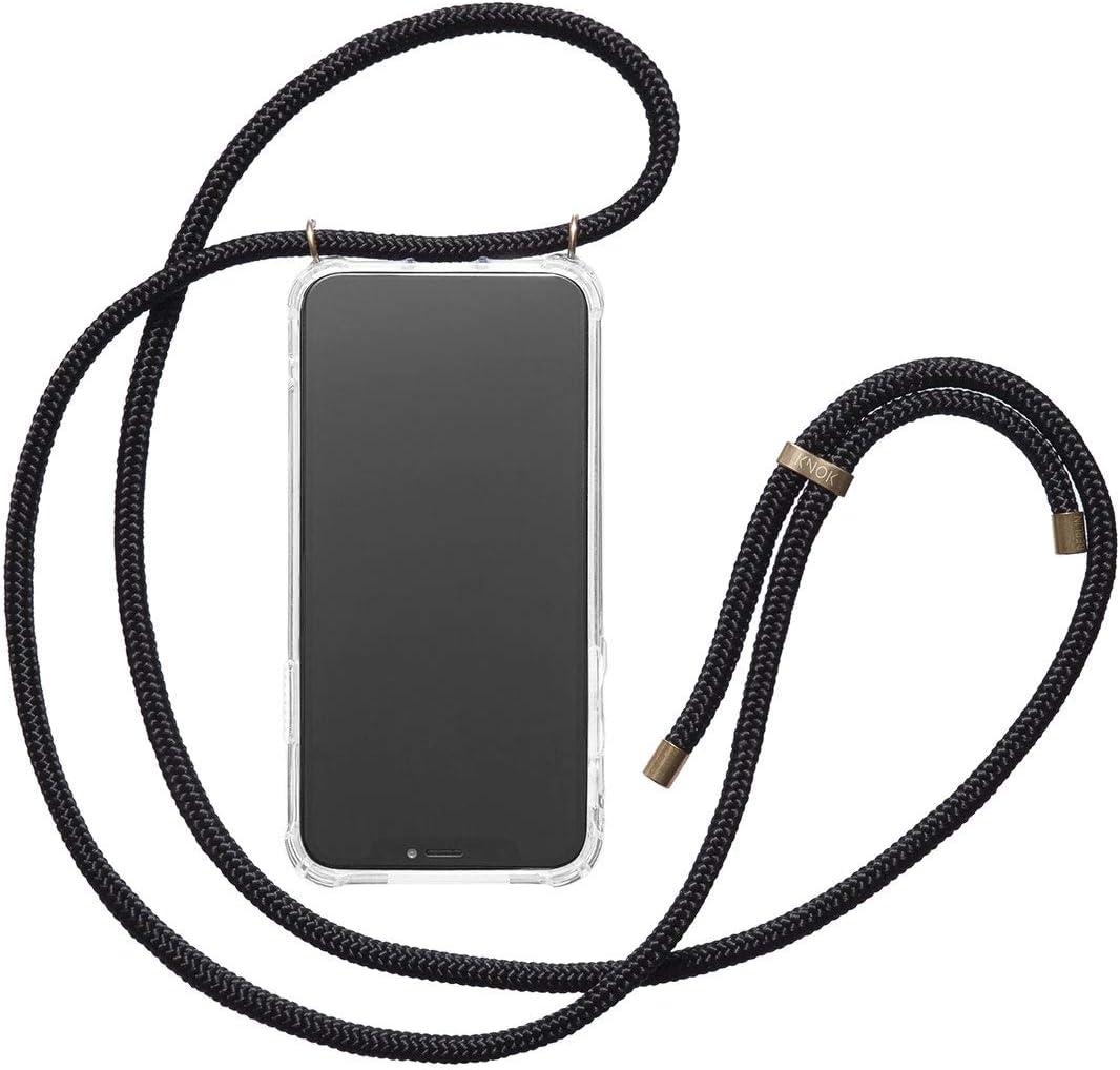 Handyh/ülle f/ür Smartphone zum Umh/ängen Schutzh/ülle mit Kordel in Bordeaux Transparent Case mit Schnur KNOK Handykette Kompatibel mit/Apple iPhone XR/- Silikon H/ülle mit Band