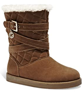4d96875734b Amazon.com | G by GUESS Womens Asella Sequined Faux Fur Casual Boots ...