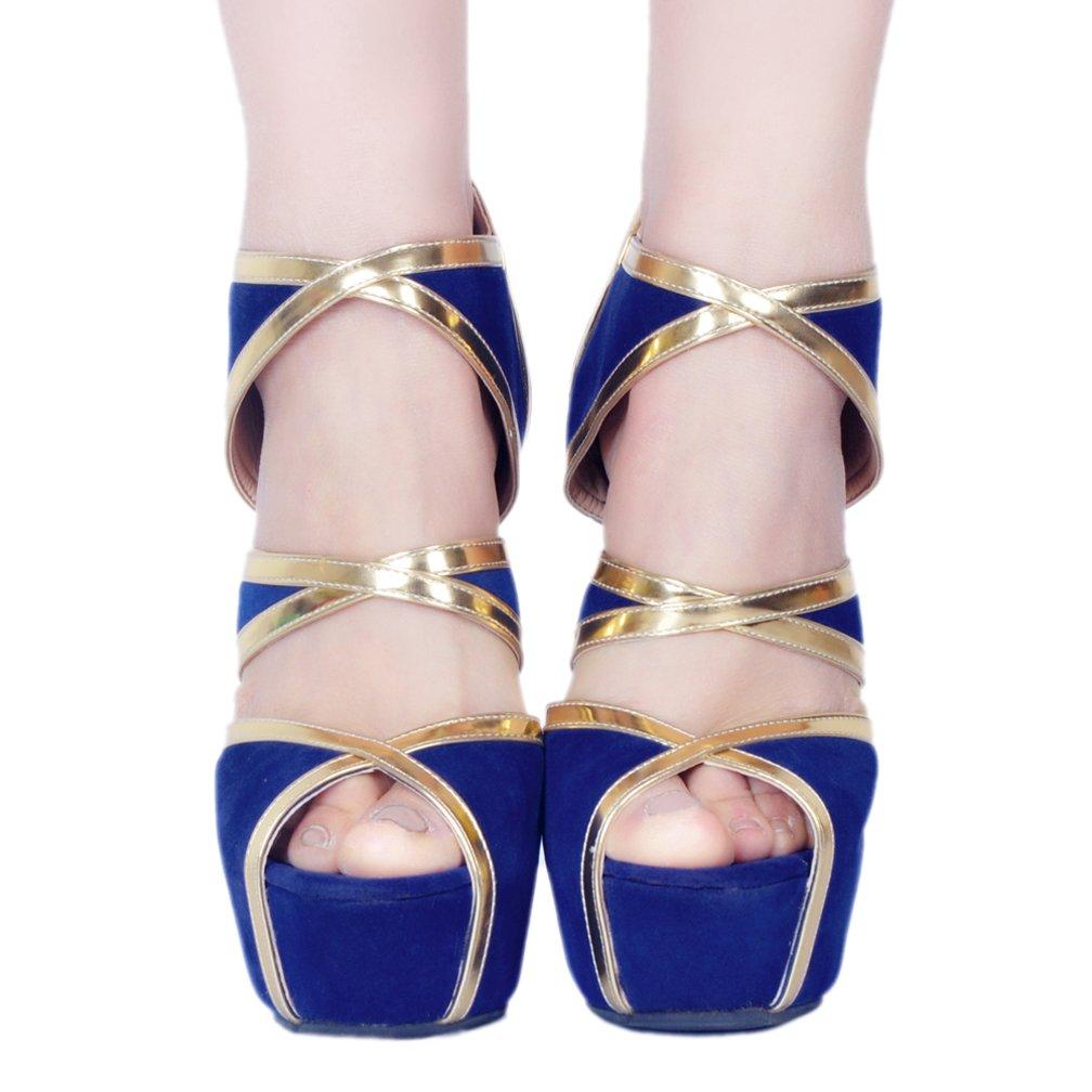 Kolnoo Damen Handgemachte Heißer Crosscriss blings Riemen High Heel Mode Pumps Schuhe