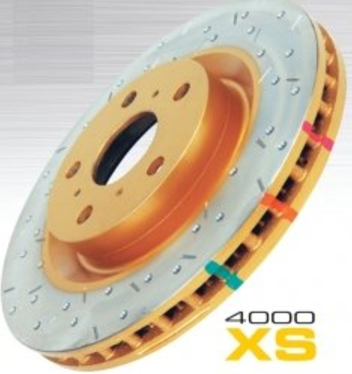 4000 Series Drilled and Slotted Disc Brake Rotor 42990BLKXS Front DBA