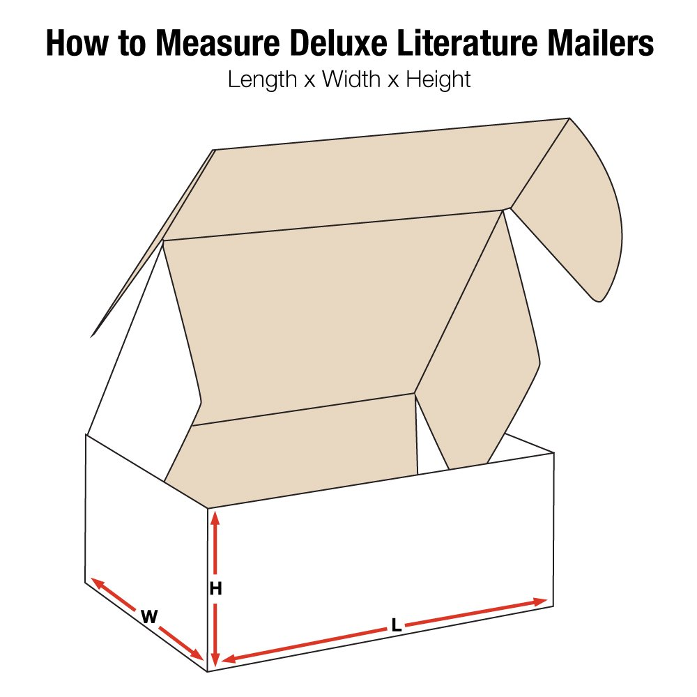 Aviditi MFL14106 Deluxe Literature Mailers, 14'' x 10'' x 6'', Oyster White (Pack of 50)