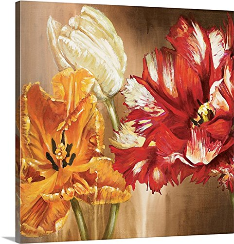 Selina Werbelow Canvas Wall Art Print Tulips square