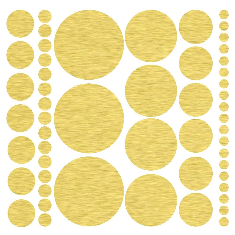 Assorted Size Polka Dot Decals - Repositionable Peel and Stick Circle Wall Decals for Nursery, Kids Room, Mirrors, and Doors (Black)