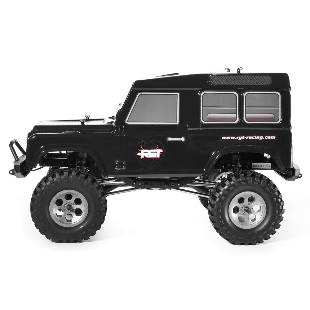RGT Rc Crawlers 1:10 4wd Off Road Truck Rock Crawler Rock Cruiser RC-4 136100V2 4x4 Waterproof Hobby Rc Car (Black)