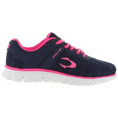 48cd583f5bd Zapatillas Deporte de Mujer JOHN SMITH RUMAN Marino-Fucsia  Amazon.es   Zapatos y complementos