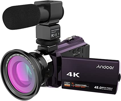 Andoer 4k 1080p 48mp Wifi Digital Videokamera Camcorder Kamera