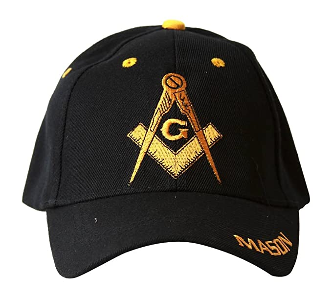 Fu Free Mason Symbol Hat Logo Yellow And Black At Amazon Mens