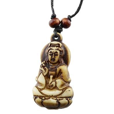 Amazon foy mall fashion resin kwan yin pendant adjustable cord foy mall fashion resin kwan yin pendant adjustable cord necklace xl1376 aloadofball Gallery
