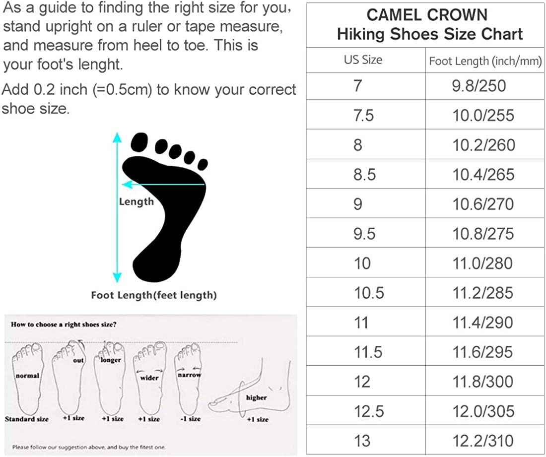 CAMEL CROWN Hiking Shoes Men Breathable Non-Slip Sneakers Lightweight Low Top for Outdoor Trailing Trekking Walking