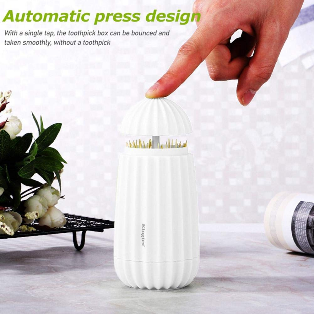Fodow Retractable Toothpick Holder Dispenser Portable Toothpick Dispenser Plastic Toothpick Box For Home Outdoor Picnic And Camping Automatic Cactus Cotton Swabs Toothpicks Pocket