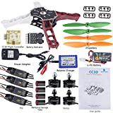 SunFounder Q250 FPV Quadcopter Drone Frame Kit CC3D Controller ESC 15A Motor MT2204 2300KV 11.1V Li-po Battery Racing Flying 4-Axis CW/ CCW Propellers Balance Charger for Openpilot