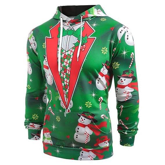Navidad para Hombre Camiseta de Manga Corta con Estampado de Traje de Navidad  Impresa en 3D con Capucha de Manga LargaTalla Grande Invierno Manga  LargaTalla ... f178811c95fbc