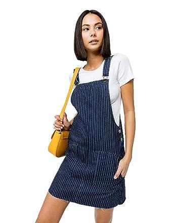 a7f5d553d4 COCO   JAIMESON Pinstripe Denim Skirtall at Amazon Women s Clothing store