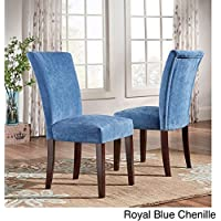 Home Parson Classic Upholstered Dining Chair (Set of 2) Royal Blue Chenille