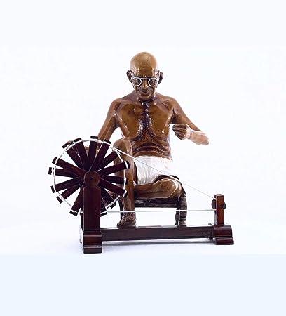 Gandhiji Souvenir | Gandhiji's Sculpture with Spinning Wheel | Gandhi  Charkha | Home Decore Handicraft