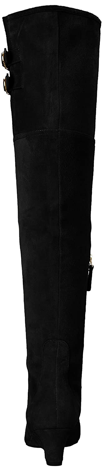 Nine West Women's Jaen Leather Fashion Boot B01MZIDHDX 8 B(M) US|Black