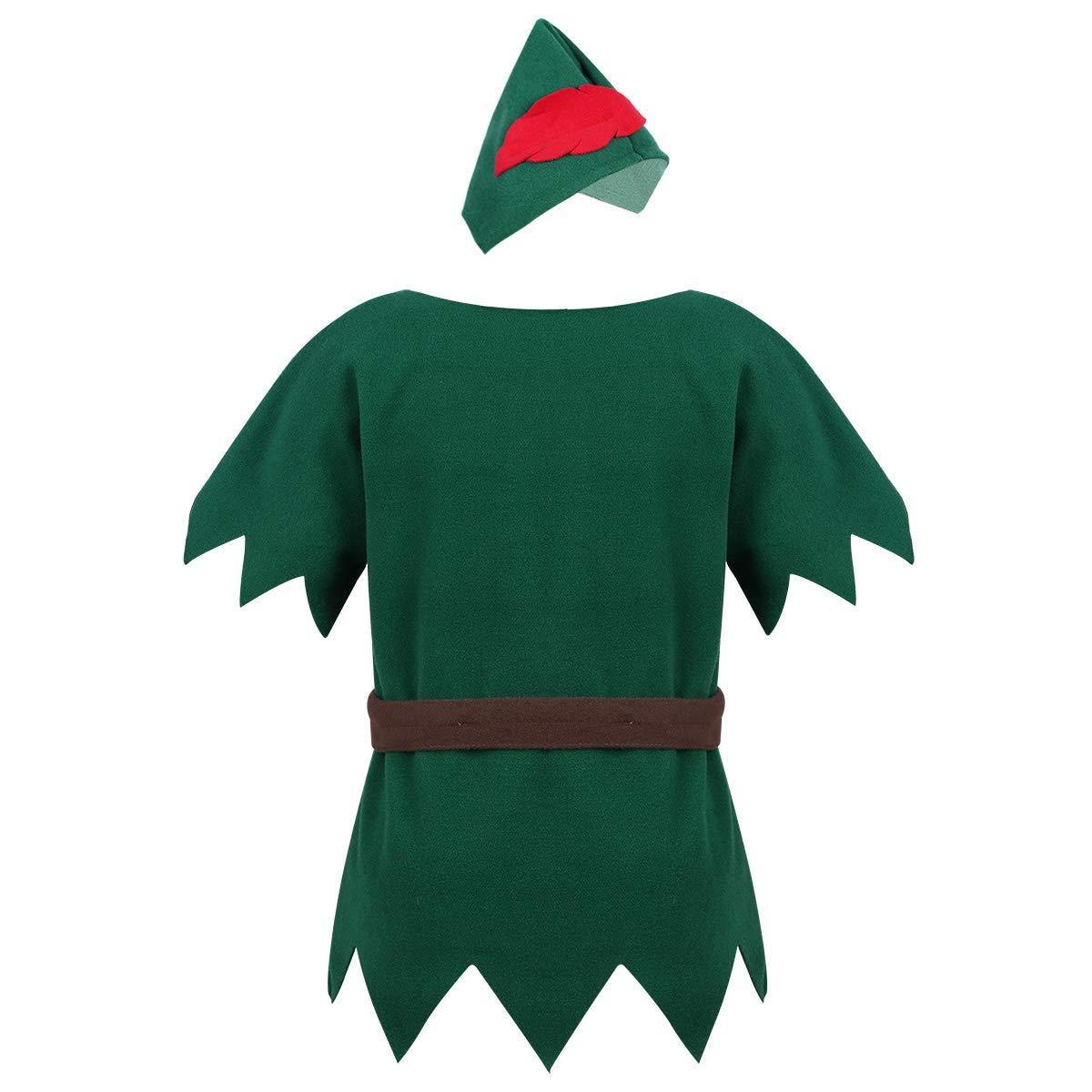 YiZYiF Disfraz Duende Elfo Niños Niñas Cosplay Santa Equipo ...