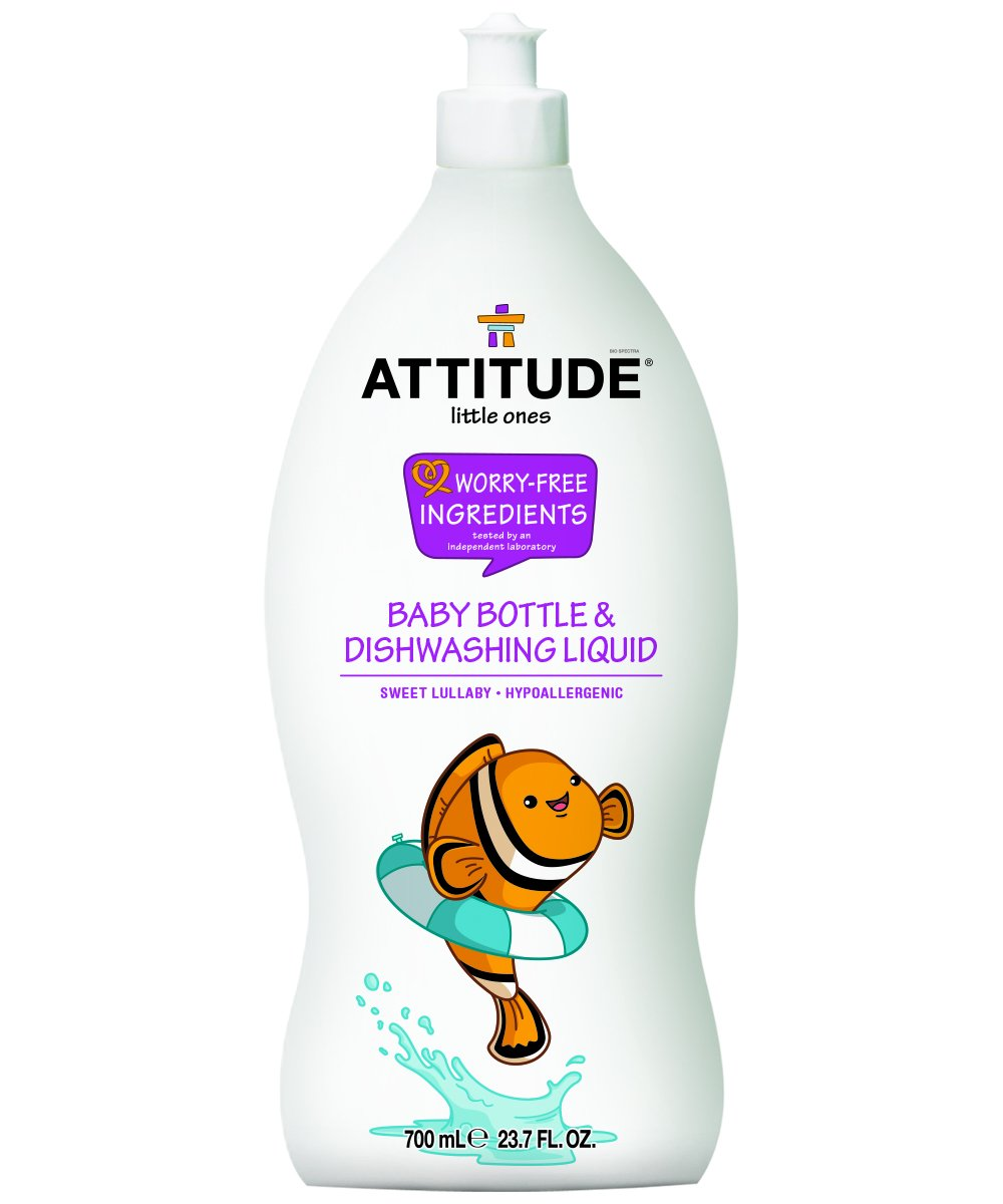 Natural Baby Bottle & Dishwashing Liquid, Hypoallergenic and 100% Baby-Safe - Sweet Lullaby scent (23.7oz)