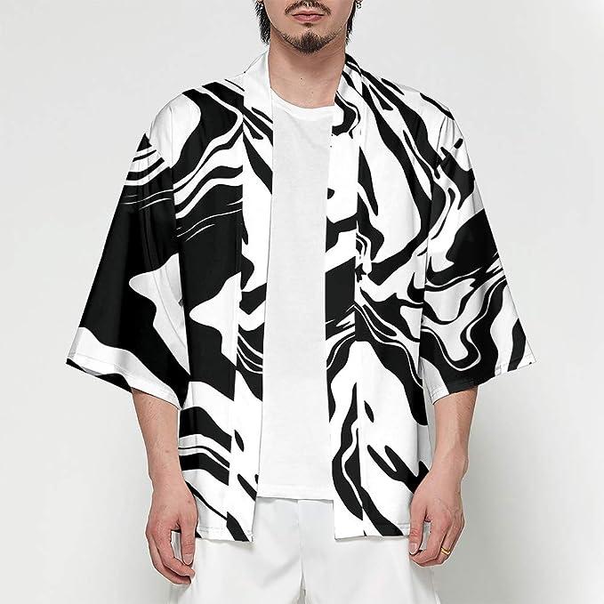 Hombre Camisa Cardigan Kimono Hippie Cloak Playa Chaqueta ...