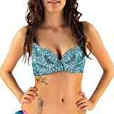 iHeartRaves Women's Sequin Bra, Sparkle and Shine in this Glitter Bra Top for Raves, Dances, Club Wear, Belly Dancing