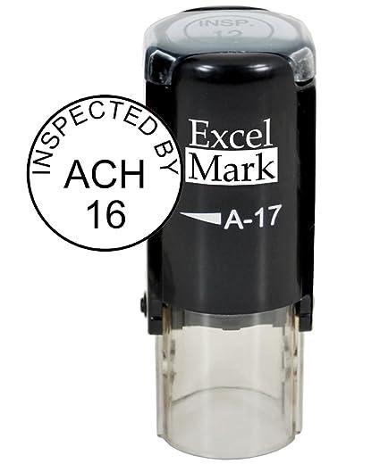 ExcelMark Custom Round Self Inking Inspection Stamp