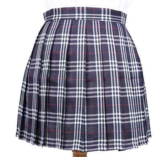 TheUniqueHouse Women Plaid Skirt High Waist Casual Cosplay Pleated Kawaii Student Skirts XS-3XL at Amazon Womens Clothing store: