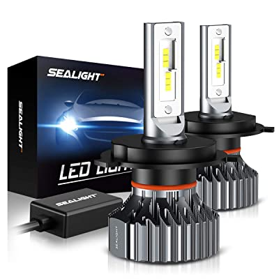 SEALIGHT Scoparc S1 H4/9003/HB2 LED Headlight Bulbs,High Beam Low Beam,6000K Bright White,Halogen Replacement,Quick Installation: Automotive