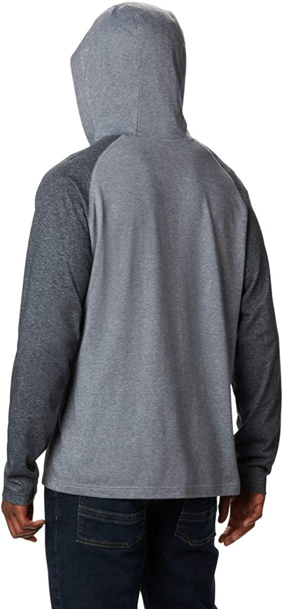 Columbia Herren Thistletown Park Raglan Hoodie Kapuzenpulli City Grey Heather, Black Heather