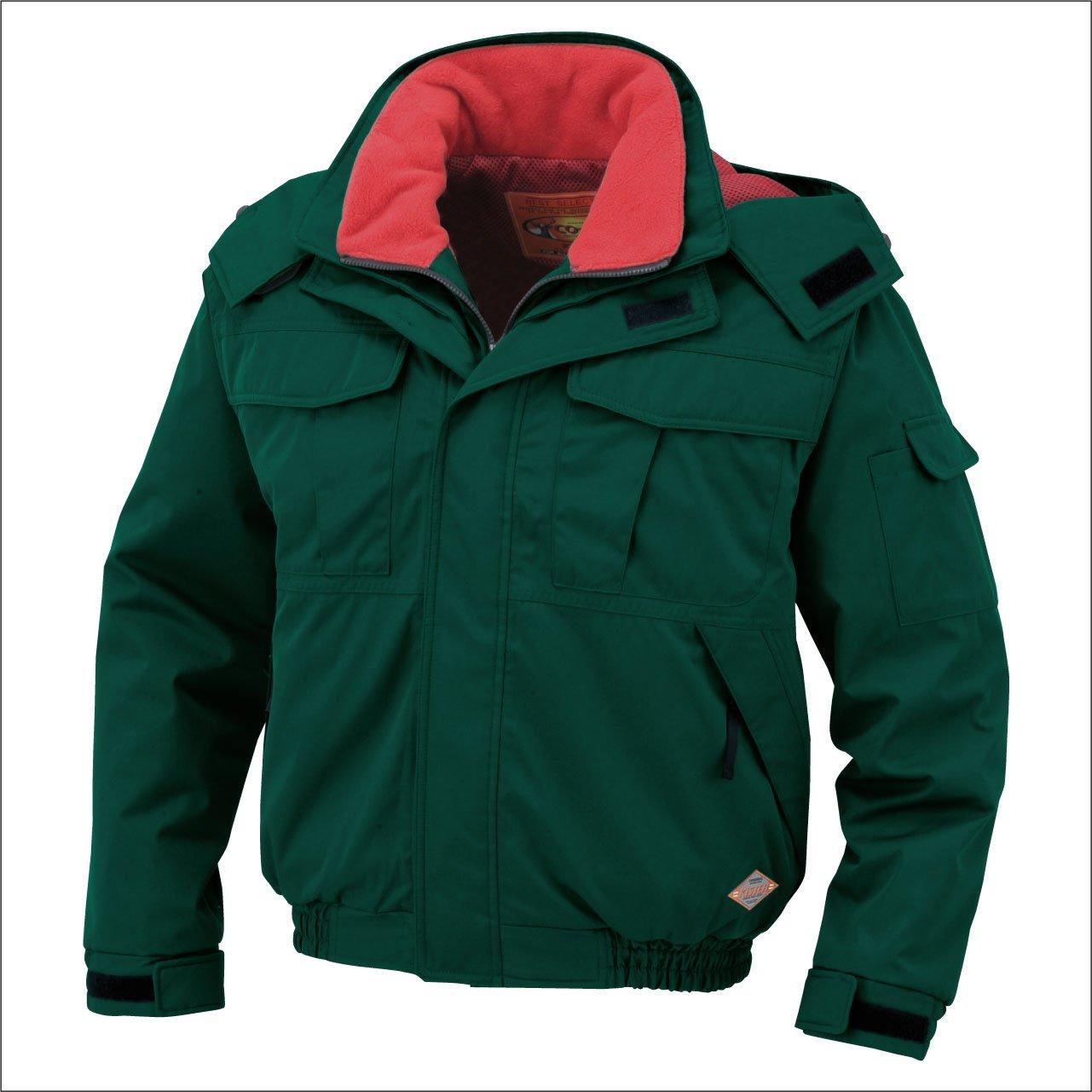 コーコス(CO-COS) 防水防寒ブルゾン 防寒服 防寒着 防寒ジャンパー cc-8200 B0194ZQGMW 5L|グリーン グリーン 5L
