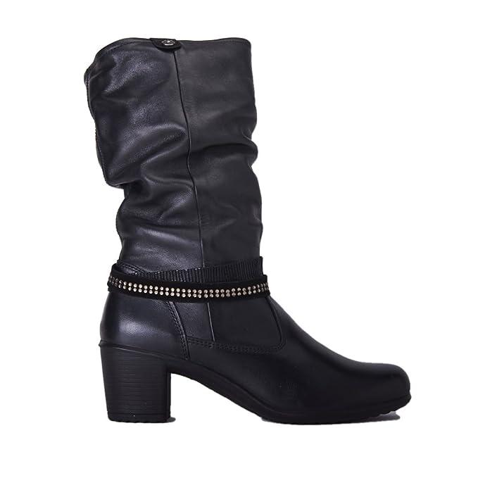Stivale Enaval Soft donna tacco 50 pelle nero ENVAL SOFT 16004310f6e
