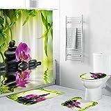 Amazon.com: charmsamx Bathroom Set, Premium Polyester Fabric ...