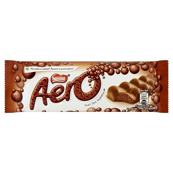 Aero - Barrita de chocolate con leche con burbujas - 40 g - Pack de 12