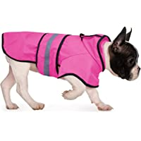 HDE Dog Raincoat Hooded Slicker Poncho for Small to X-Large Dogs and Puppies (Pink, Small)