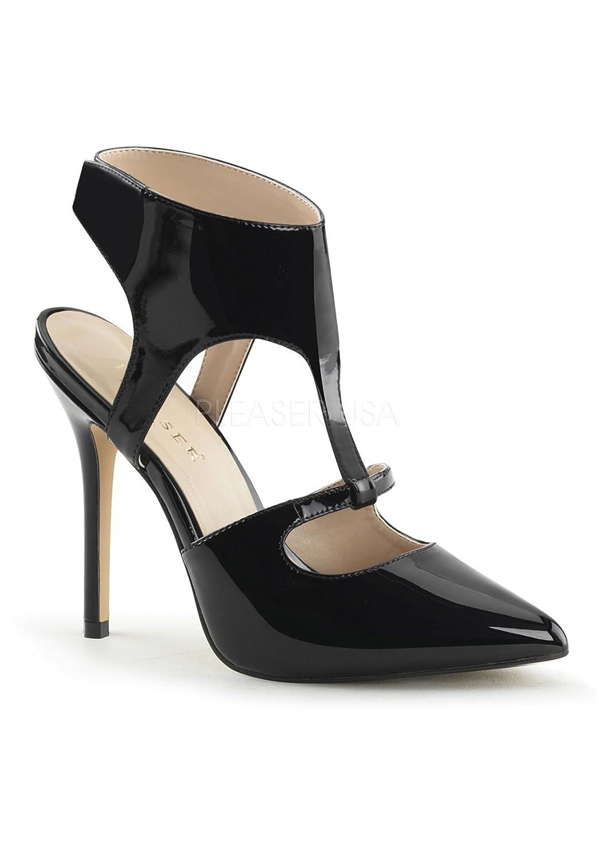 Pleaser Women's Amuse 19 Comfort Fashion Sandals B00MH2IQ0U 5 B(M) US Black Patent