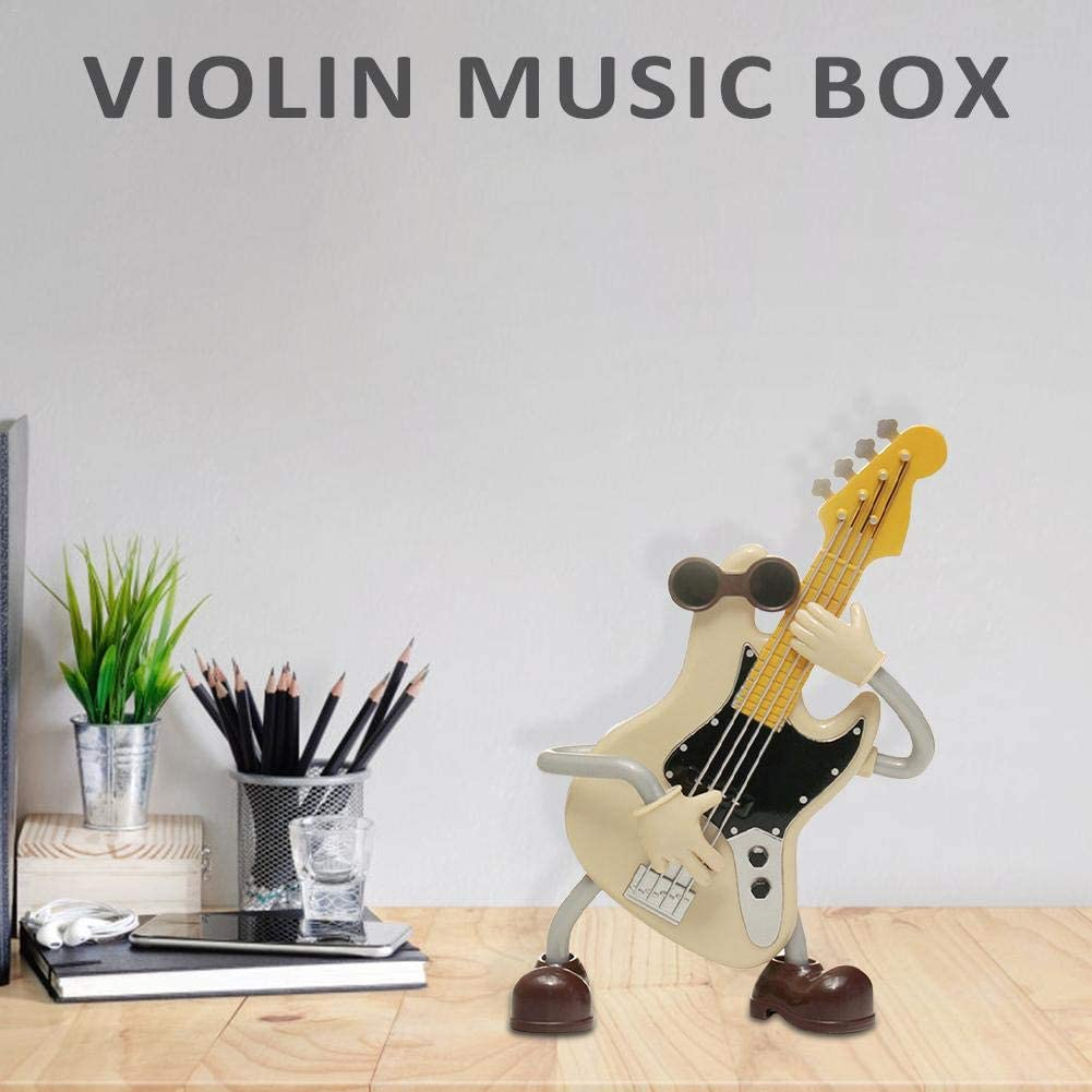 HUVE Caja De Música De Guitarra De Dibujos Animados Caja De Música ...