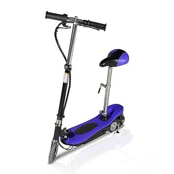 PIKI patinete eléctrico asiento, plegable - 120 Watts, Bleu ...