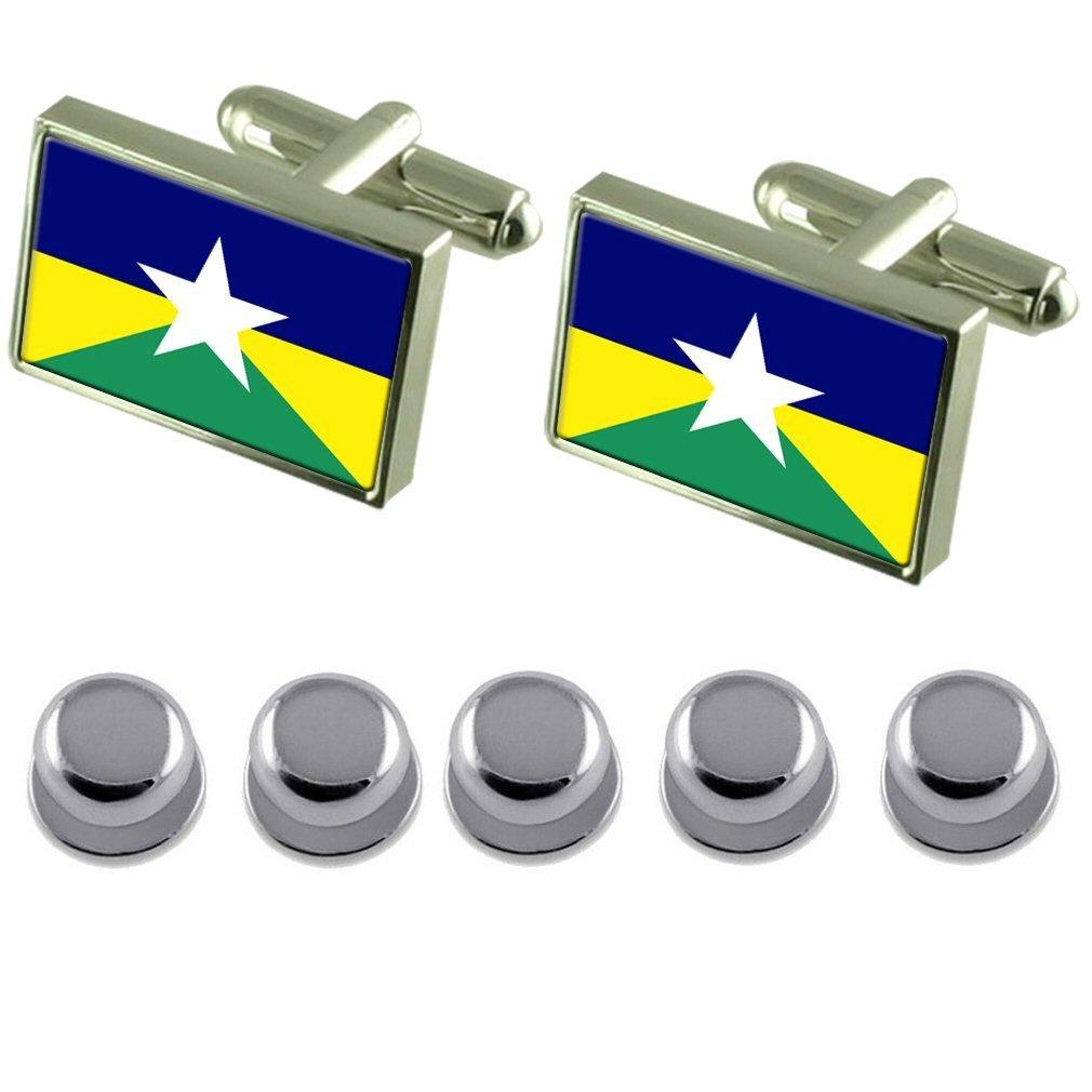 Select Gifts Shirt Dress Studs Rondonia Flag Cufflinks