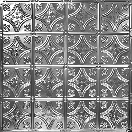 Nail Up Tin Ceiling Tile Pattern #3 (5 Pack) (Brushed Satin Nickel) by American Tin Ceilings