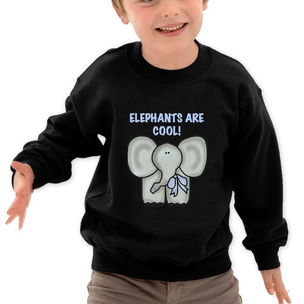 Mkajkkok Elephants are Cool Its Everyday Bro Kids Fashion Round Neck Long Sleeve T-Shirts