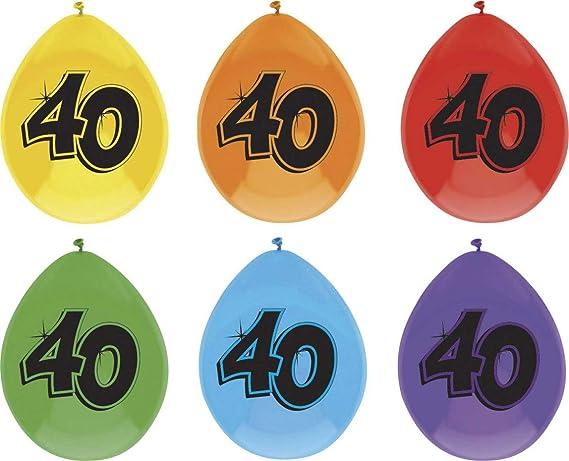 Haza Globos de Colores para 40 Cumpleaños, Globo de Fiesta ...