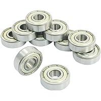 DollaTek 10 piezas 608ZZ doble Metal Shields rodamientos