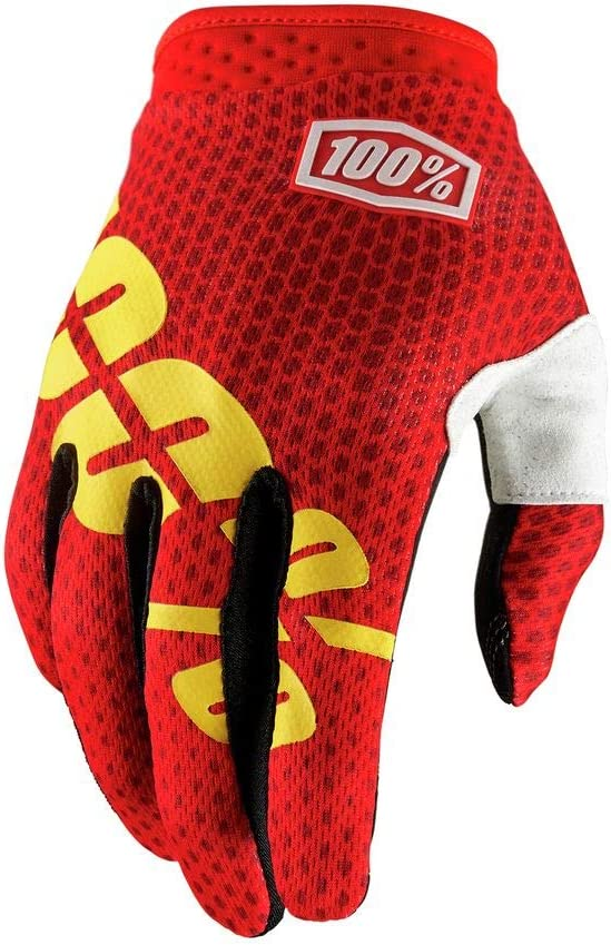 Small 100/% 2019 iTrack Gloves Black//FLO Yellow