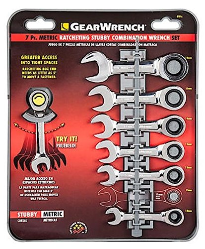 Metric Gearwrench Combination Set (Gearwrench 7 Piece Metric Stubby Combination Ratcheting Wrench Set)
