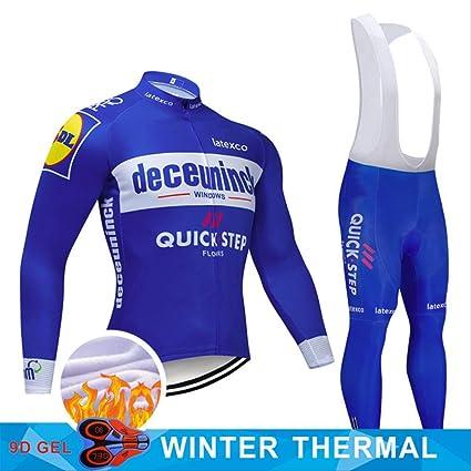 YDQXTZ Ciclismo Jersey Set 2019 Bike Ropa Hombres Invierno ...