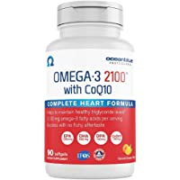 Oceanblue Omega-3 2100 with CoQ10 – 90 ct – Triple Strength Burpless Fish Oil Supplement with High-Potency EPA and DHA…