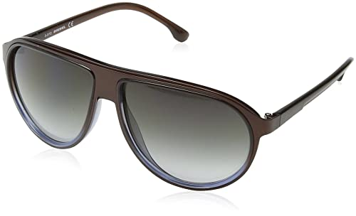 Diesel – Occhiali da sole DL0058 Oversize, Brown & Blue Frame / Gradient Grey